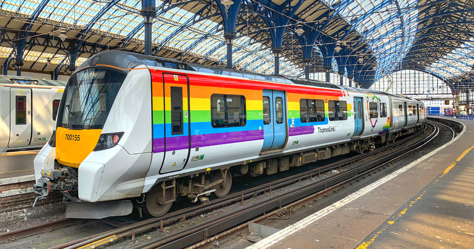 All aboard the Trainbow!